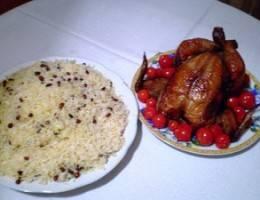 Азербайджанский «Лявянги» Сухой красный перец, Рис, Курица, Грецкий орех, Гранат