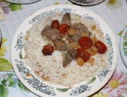 Азербайджанский плов Урюк, Кишмиш, Баранина